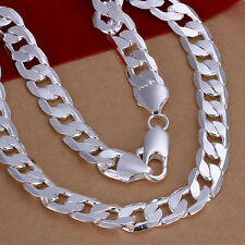 Silver Plated 8mm Chain Men Bracelet/Bangle Fashion Jewelry Hot