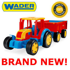 ~! NEW GIANT TRACTOR 102CM LONG WITH TRAILER BEST TOY DRAG TROLLEY FOR KIDS !~