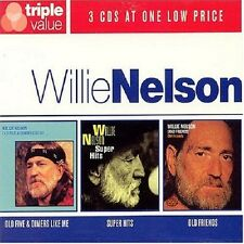 Willie Nelson Old Five & Dimers Like Me/Super Hits/Old Friends 3-CD NEW SEALED