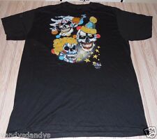 vtg nos 90s 3D emblem SHIRT skull SCARED bones L large 50/ clown 420 weed POT mj