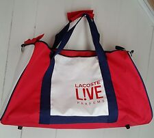 Lacoste Live Pafums large white red gym duffle bag tote