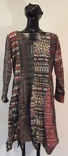 NWT Sacred threads Acrylic Knit Asymmetrical Hem  Boho  Dress L