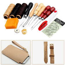 13 LeatherCraft Leatherworking Kit Set Leather Hand Sewing Punch Carving Groover