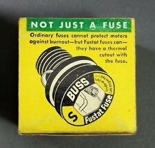 **NOS** Bussmann Buss Fustat Time Delay Fuses Type S 10 Box of 4 Fuses