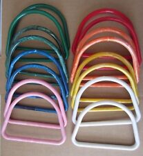 "Lot of 8 Pairs Assorted Colors 7"" D Plastic Macrame Purse Handles Craft Handbag"