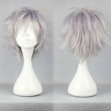 Black Blonde Brown Pink White Short Straight Hair Wig Women Men Fany Costume 1t