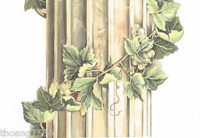 Tuscan Tuscany Stone Flutted Column Grape Vine Mural Wall paper Border 26 inches
