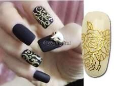 DIYGold foil108PCS Fleur Art Pour Les Ongles Embouts pâte Stickers Autocollants