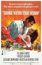 VINTAGE GONE WITH THE WIND CLARKE GABLE MOVIE POSTER A3 PRINT