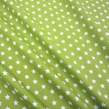 Stoff Meterware Baumwollstoff Stern Sterne hellgrün grün stars Popeline 9 mm