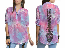 Iron Fist Spineless Blouse Pink/Purple ❤ Tie Dye Size XS UK6/8 VERY RARE!