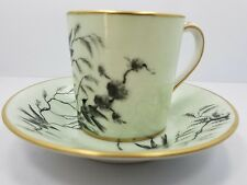 """Le Tallec a Paris Limoges """"oiseaux chinois"""" demitasse cup and saucer Lord Taylor"""