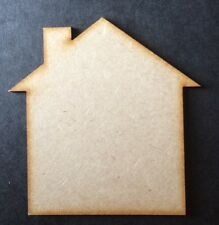 Large House Wooden Craft Shape 260 X 260 X 3mm Mdf Wood
