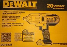 "Dewalt 20 Volt Max Cordless Lithium-Ion 1/2"" High Torque Impact Wrench DCF889B"