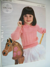 "ORIGINAL VINTAGE SIRDAR KNITTING PATTERN CHILDS COLLARED JUMPER, 22""-26"",D/KNIT"