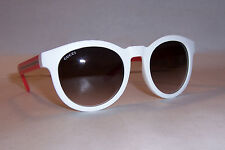 NEW GUCCI SUNGLASSES GG 3653/S WHITE/BROWN 19I-K8 AUTHENTIC