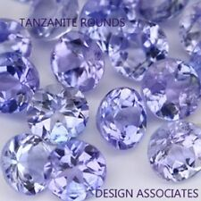 TANZANITE  ROUND  NATURAL GEMSTONE LOT LOOSE 3.00 MM GEMSTONES ONE FULL CARAT 10