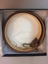 Crocket & Jones Tan Scotch Grain Brass Buckle Belt Size 34   9943-94