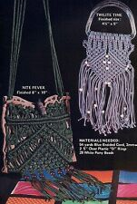 GM19 Disco Dance Bags Purse Instructions & More Patterns Macrame Mischief Book