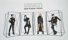 [2NE1] CRUSH [OFFICIAL POSTER] Unfolded poster in a Hard tube