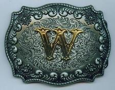 """Adorno en la cintura Buckle Capellido letra """"W"""" Western initial nombre letter"""