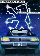 Peugeot 205 Prospekt 1984 brochure Auto PKWs Frankreich Autoprospekt Broschüre