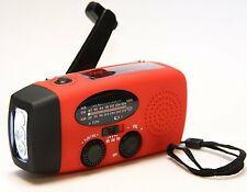 Emergency Dynamo Solar AM/FM/WB(NOAA) Radio w/Flashlight Charger w/USB adaptors