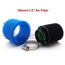 Scooter 38mm Air Filter For 110cc 125cc ATV Pit Dirt Monkey Bike Go Kart Blue