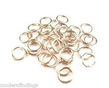 NICKEL SILVER JUMP RING 16GA.WIRE I/D 4MM 330PCS.2 OZ SAW-CUT MADE IN USA