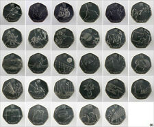 Complete set of Olympic and Paralympic 50p coins CIRCULATED BUT GOOD CONDITION