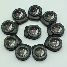 10x Small Liquid Filled Navigation Compass Clip-On Paracord Bracelet Watch Band