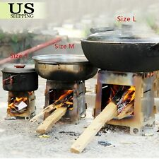 Outdoor Camping Picnic Cooking Folding Alcohol Wood Pocket Stove Survival Size L