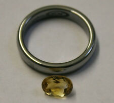 LOOSE YELLOW CITRINE NATURAL GEM 6X8MM OVAL CUT FACETED 1.2CT GEMSTONE CI21A