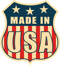 "Made In USA Flag Police Emblem Badge Car Bumper Sticker Decal 5"" x 5"""