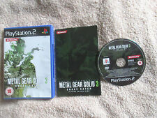 Metal Gear Solid 3: Snake Eater / Complete (Sony PlayStation 2, 2005) PS2