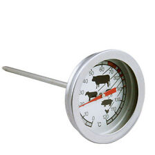 MEAT PROBE THERMOMETER COOKING BBQ MEAT ROASTING TURKEY STAINLESS STEEL
