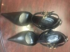 Gucci Sandals Black Leather Size 7B