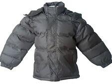 NWT Boy's WARM Puffer Bubble Jacket Winter Coat Fleece lined GRAY SIZE Lg 14/16