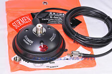 SURMEN K-505M Super Magnet Mount Bracket Cable 5M type PL259 for Car Radio Yaesu