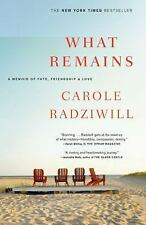What Remains : A Memoir of Fate, Friendship, and Love by Carole Radziwill...