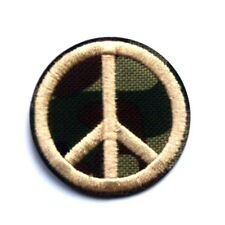 Peace Hippie Love Camouflage Biker Goth CND Love Embroidered Iron Sew On Patch