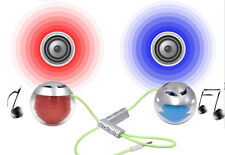 BLUETOOTH WIRELESS MINI PORTABLE TWIN SPEAKER  FOR MOBILE PHONE IPHONE IPOD