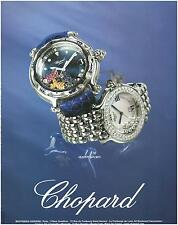 ▬► PUBLICITE ADVERTISING AD Montre Watch CHOPARD Happy sport  2005