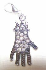 Michael Jackson MJ Sparkle GLOVE Clip On Charm Fit Bracelet