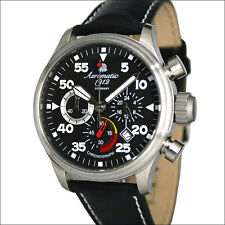 Aeromatic 1912 Military Aviator Observer Quartz Chronograph, 24-Hr Dial  #A1229