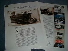 "History Info Article on Moving Vans and Trucks ""Hauling Households"""