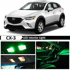 9x Green Interior LED Light Package Kit for 2016 & up Mazda CX-3 CX3