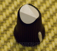 002-8800-000 Fender Guitar Black & White New Old Stock Amp Knob D-Shaft