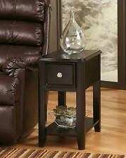 Ashley Furniture Breegin Chair Side End Table Almost Black Table T007-371 New