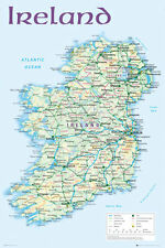 Map of Ireland Maxi size 91.5 x 61cm (36in X 24in) Poster Education Aid New